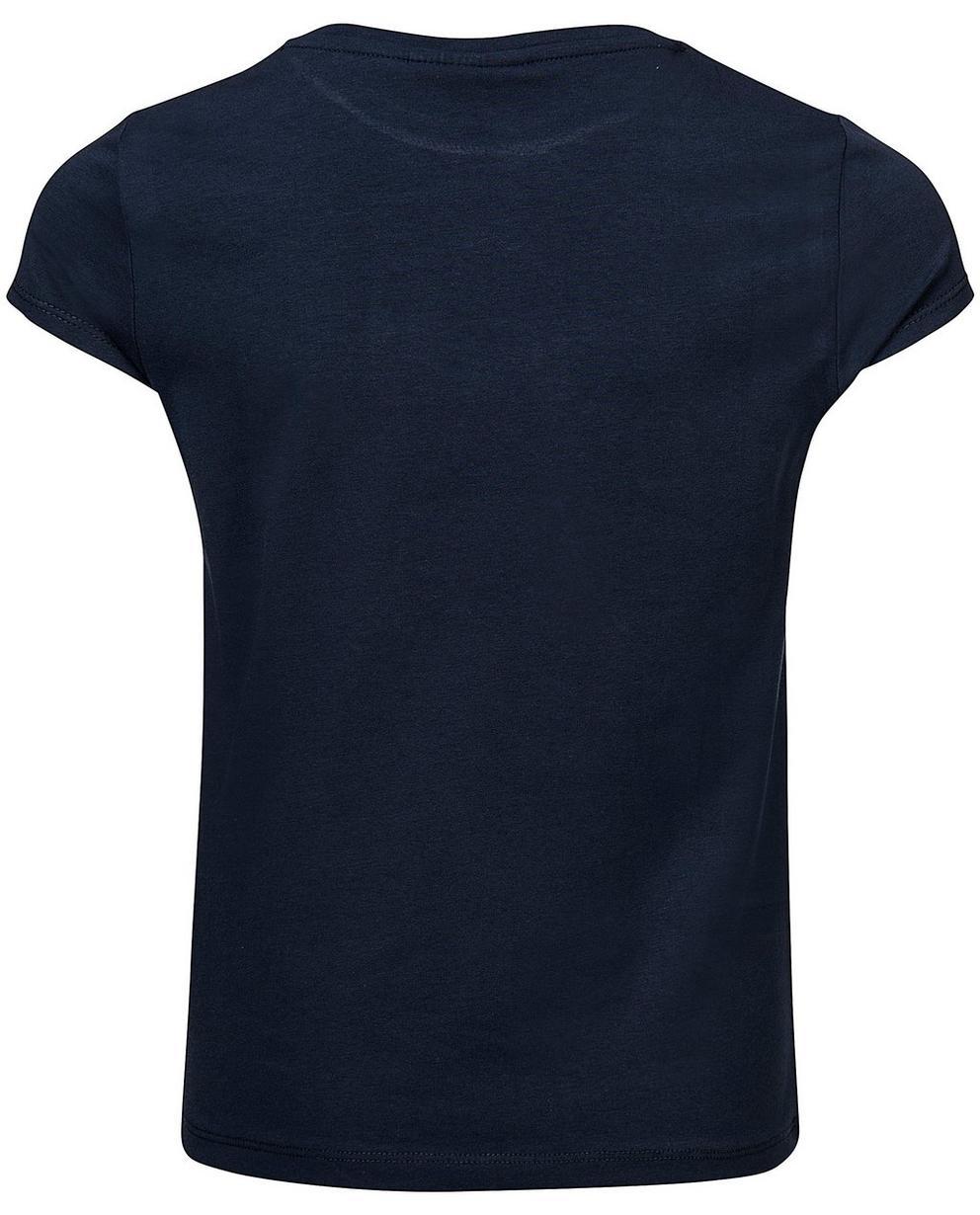 T-Shirts - Navy - T-Shirt mit Pailletten-Schleife
